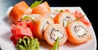 Все суши-сеты из меню на выбор в суши-баре «Филадельфия». <b>Скидка55%</b>