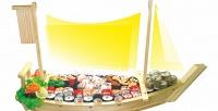 Все суши, роллы ипицца сбесплатной доставкой всети кафе «Факультатив». <b>Скидка50%</b>