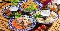 Обед или ужин ввосточном стиле вкафе-ресторане «Гурман Плюс». <b>Скидкадо57%</b>