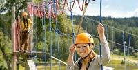 Билет для ребенка или взрослого вверевочный парк вкомпании «Квадроштурман». <b>Скидкадо72%</b>