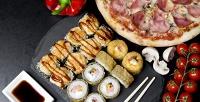 Все суши-сеты или пицца отслужбы доставки «Гурман» соскидкой50%