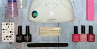 <b>Скидка до 54%.</b> Лампа для сушки ногтей, набор из3лаков, аппарат или стартовый набор для маникюра навыбор