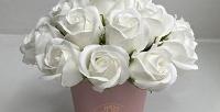 <b>Скидка до 57%.</b> Букет измыльных роз вкоробке изсерии «Лайт», «Оптима» или «Профи»