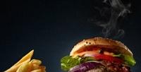 <b>Скидка до 50%.</b> Комбонабор сбургером, воком, наггетсами, картофелем инапитком отPizza Master