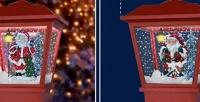 <b>Скидка до 77%.</b> Подвесные инастенные декоративные фонарики с25рождественскими мелодиями ипадающим снегом