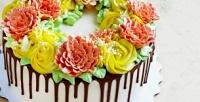 <b>Скидка до 50%.</b> Торт сукрашением изкрема, фотопечатью, детский или свадебный торт навыбор
