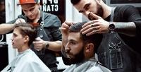 <b>Скидка до 55%.</b> Мужская, детская стрижка, моделирование бороды всети барбершопов Men
