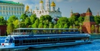 <b>Скидка до 58%.</b> Прогулка поМоскве-реке виюле собедом либо ужином натеплоходе River Palace