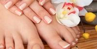 <b>Скидка до 55%.</b> Маникюр ипедикюр вместе вчетыре руки или поотдельности спокрытием гель-лаком иSPA-программой встудии красоты NilSY