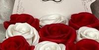 <b>Скидка до 50%.</b> Букет изискусственных мыльных роз вшляпной коробке или вBox Mini