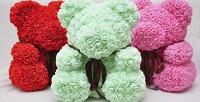 <b>Скидка до 61%.</b> Мишка изфоамирановых 3D-роз споздравительной открыткой ивподарочной упаковке