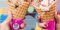 Мороженое, десерты инапитки вкафе «Баскин Роббинс» соскидкой50%