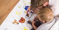 <b>Скидка до 65%.</b> Детское постельное белье или одеяло, рассказывающее сказки поQR-коду