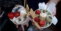 <b>Скидка до 61%.</b> Приготовление мороженого, попкорна или сладкой ваты откомпании «Молоко &Фрукт»