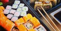 Блюда японской кухни отслужбы доставки «Суши фишка» соскидкой50%