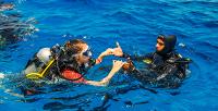 Романтическое свидание под водой сфотосессией вдайвинг-клубе «Капитан Кук» (3000руб. вместо 6000руб.)