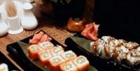 Вся японская кухня ивторые блюда европейской кухни вресторане «Грибоедов Hall» соскидкой50%