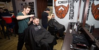 <b>Скидка до 50%.</b> Мужская стрижка, стрижка бороды отбарбершопа Derby