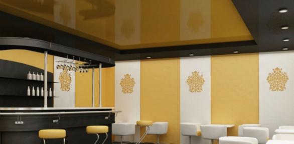Сертификат наустановку натяжного потолка белого цвета площадью до40кв.м