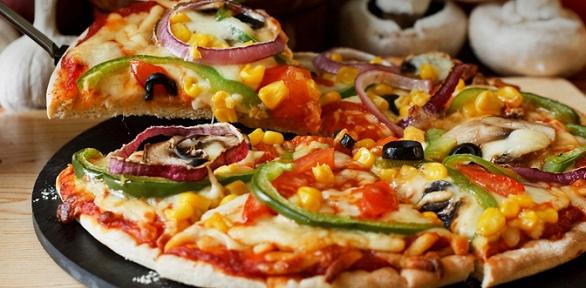 Меню пиццы откомпании Pizza Smile заполцены