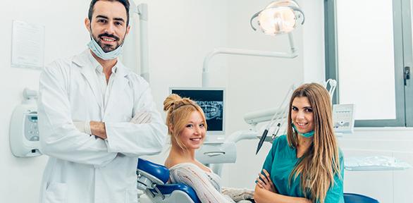 Посещение стоматолога вклинике «Магия»