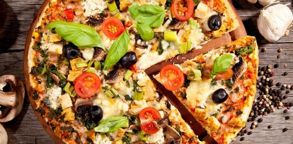 2, 3или 5пицц навыбор диаметром 30см откомпании «Красти пицца»