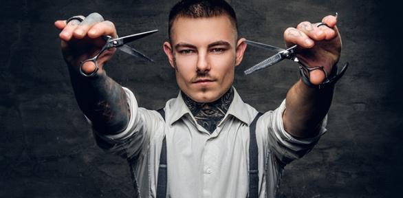 Мужская и детская стрижка, «опасное бритье» в барбершопе Thе Legend