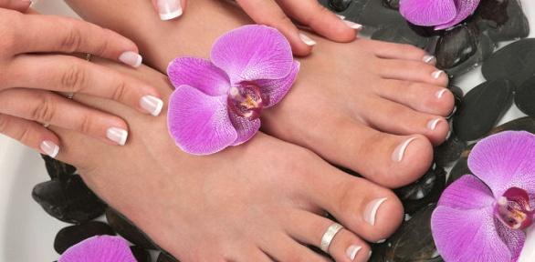 Маникюр ипедикюр спокрытием встудии ногтевого сервиса Flowers Queen