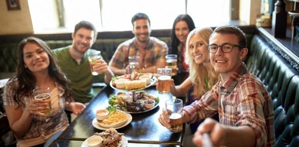 Все блюда изменю отресторана «Beerлога» заполцены