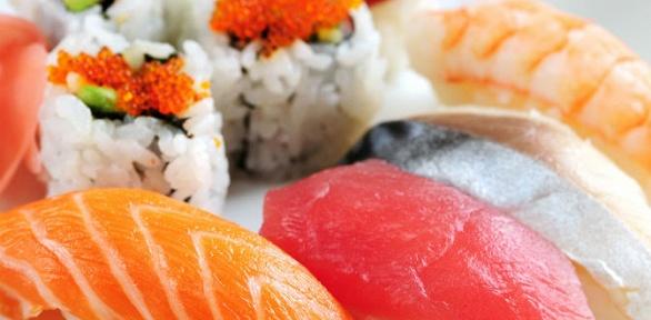 Суши, роллы ивсе сеты отресторана «Мама Мия» заполцены