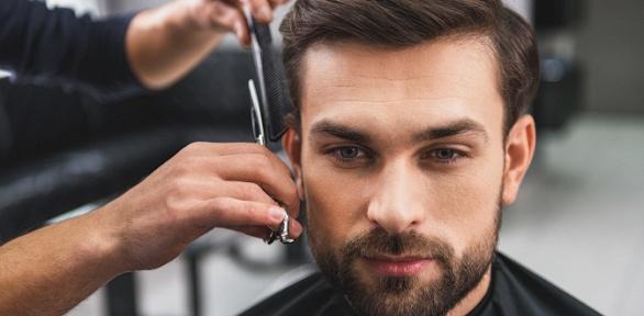 Мужская стрижка либо моделирование бороды вбарбершопе Barbudos