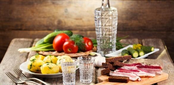 Украинский ужин или пивной сет вресторане «Сковорода»