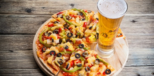 Пицца, закуски отСД бара Extreme заполцены