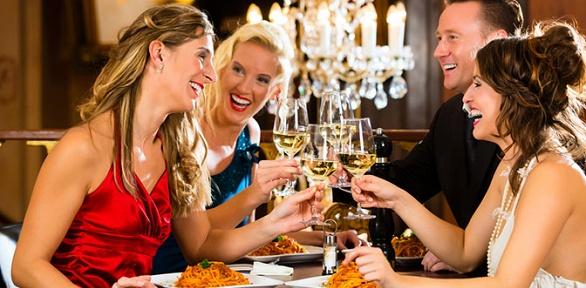 Вечеринки для компаний от4до10человек оттанцевального ресторана Aurum