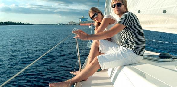 Прогулка напарусной яхте для компании до4человек отяхт-клуба Skipper