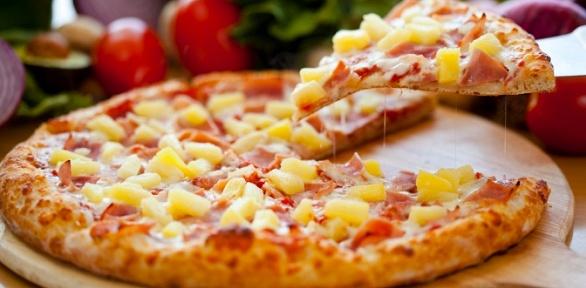Всё меню пицц отресторана «Крути пицца» заполцены