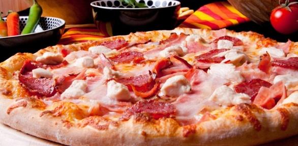 Любая пицца диаметром 33см откомпании Nabe заполцены
