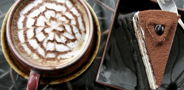 Десерт инапиток навыбор вкофейне «Кекс вбольшом городе» заполцены