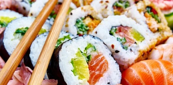 Суши-сеты ипицца отслужбы доставки GurMan за полцены