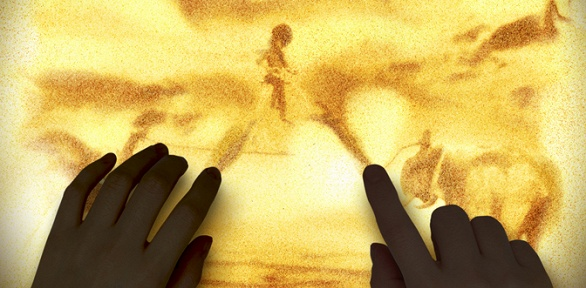 Билет напесочную сказку отстудии рисования песком Gold Sand