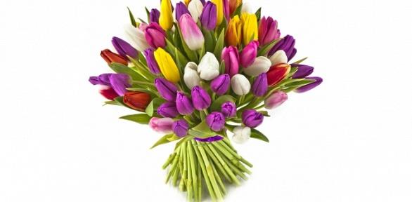 Розы, тюльпаны ивоздушные шары