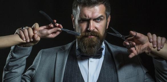 Мужская, детская стрижка, коррекция бороды вбарбершопе «Золотая молодежь»