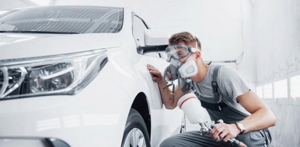 Покраска деталей автомобиля вавтоцентре Wash Aquastar