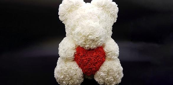 Медведь изобъемных фоамирановых роз