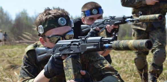 Игра в лазертаг отклуба спортивно-тактического лазертага Lazertag-Alfa