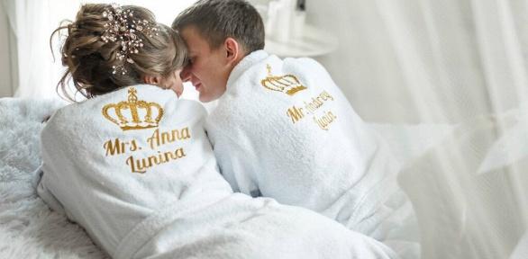 Халат, полотенце, банный набор, фартук, подушка свышивкой