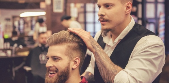 Стрижка имоделирование бороды вбарбершопе Beauty Coworking Golden