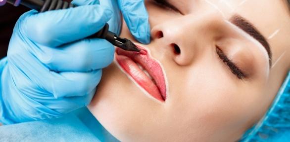 Перманентный макияж век, бровей или губ всалоне «Аура»
