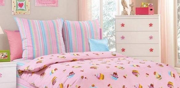 Полуторный комплект постельного белья детской расцветки