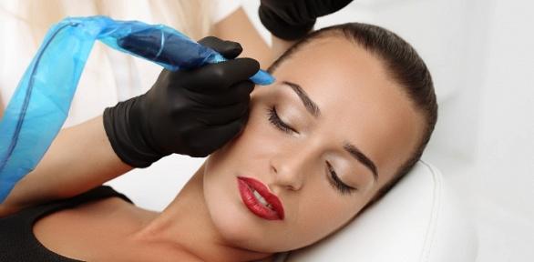 Перманентный макияж век, бровей или губ, татуаж бровей всалоне «Евростиль»